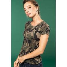 Kariban Camo 3031 terepmintás 140 g-os női póló /KA3031/
