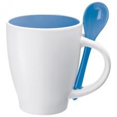 porcelán bögre kanállal 0,25 l, kék \C-8509504\