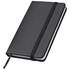 Jegyzetfüzet könyvjelzővel, fekete \C-2836703\