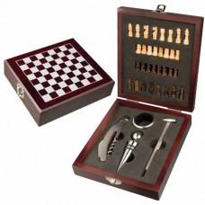 boros / sakk készlet 4 db-os fa dobozban \C-8403701\