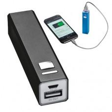 Power bank 2200 mAh, hordozható mobiltöltő, külső USB akkumulátor, vésztöltő, fekete \C-4302903\