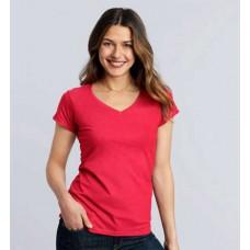 Gildan SoftStyle Ladies 64V00L V nyakú női póló GIL64V00