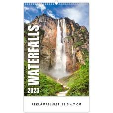 Waterfalls (Vízesések) falinaptár \H127\