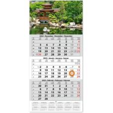 Egy tömbös három hónapos speditőrnaptár Hangulat 33x67 cm \SP-1H3-HA\