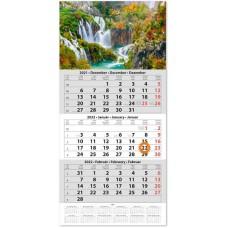 Egy tömbös három hónapos speditőrnaptár Vízesés 33x67 cm \SP-1H3-VI\