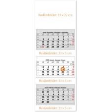 Három tömbös három hónapos speditőrnaptár 33x88 cm \SP-3H3-FU\