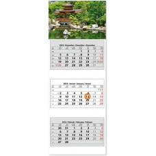 Három tömbös három hónapos speditőrnaptár Hangulat 33x88 cm \SP-3H3-HA\