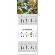 Három tömbös három hónapos speditőrnaptár Vízesés 33x88 cm \SP-3H3-VI\