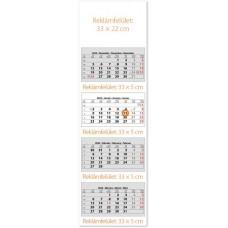 Négy tömbös négy hónapos speditőrnaptár 33x110 cm \SP-4H4-FU\
