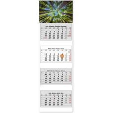 Négy tömbös négy hónapos speditőrnaptár Erdő 33x110 cm \SP-4H4-ER\