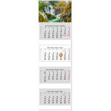 Négy tömbös négy hónapos speditőrnaptár Vízesés 33x110 cm \SP-4H4-VI\