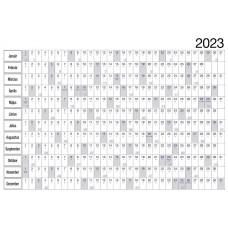 plakátnaptár, tervezőnaptár, kétoldalas
