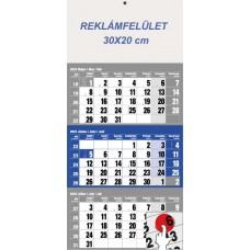 Három hónapos speditőrnaptár kék 30x68 cm \6061-40\