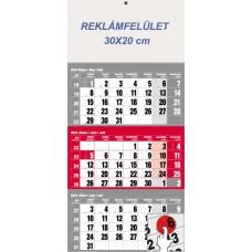 Három hónapos speditőrnaptár piros 30x68 cm \6061-90\