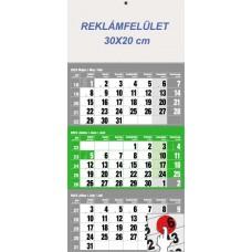 Három hónapos speditőrnaptár zöld 30x68 cm \6061-80\