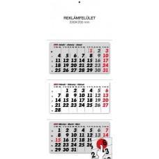 Három részes (tömbös) speditőrnaptár 33x80 cm \6071\