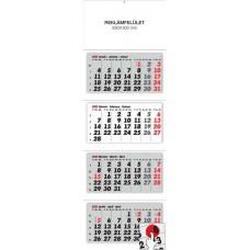 Négy részes (tömbös) speditőrnaptár 33x100 cm \6072\