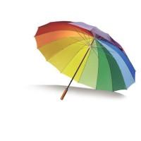 esernyő szivárvány színű 130 cm-es \M-405809\