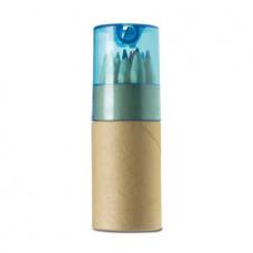 színesceruza 12 db-os hegyezővel, hengerdobozban kék \M-249518\