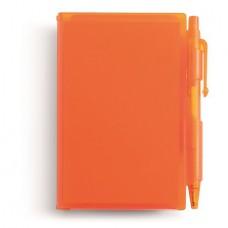 golyóstoll / jegyzettömb fekete betéttel, narancs \M-273607\