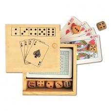 kártya / kocka fadobozban \M-255300\