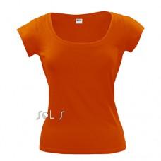 Sol's 11385 melrose csónak nyakú női póló, orange 400 \11385-400\