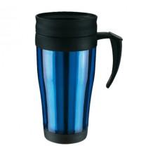 műanyag hőtartó pohár (bögre), 400ml, kék \T-0304110\