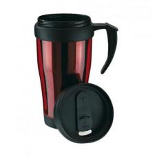 műanyag hőtartó pohár (bögre), 400ml, piros \T-0304111\
