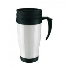 műanyag hőtartó pohár (bögre), 400ml, fehér \T-0304112\