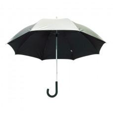 Solaris üvegszálas alumínium golf esernyő, ezüst/fekete \T-0104110\