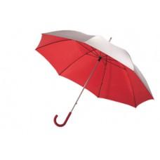 Solaris üvegszálas alumínium golf esernyő, ezüst/piros \T-0104112\