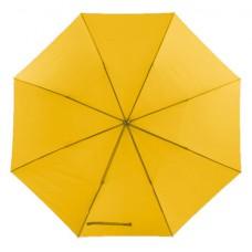 Mobile golf esernyő tokkal, fém nyéllel, dupla erősítésű bordázat sárga \T-0104146\