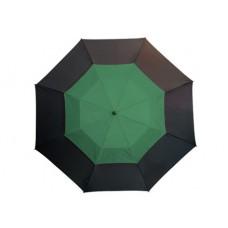 Monsun' üvegszálas golfernyő, fekete / sötétzöld \T-0104171\
