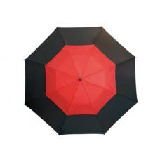 Monsun' üvegszálas golfernyő, fekete / piros \T-0104172\