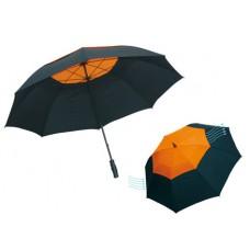 Monsun' üvegszálas golfernyő, fekete / narancssárga \T-0104174\