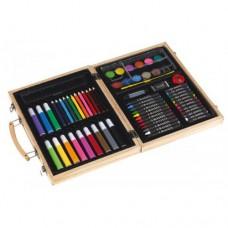 Gaudy festő szinező készlet 54 db-os, fa dobozban \T-0504107\