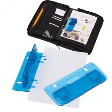 Page mini lyukasztó beépített vonalzóval (12cm), kék \T-1101732\