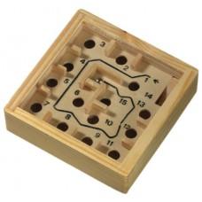 Fa labirintus játék, 9x9cm \T-0501035\