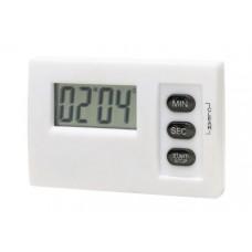 mágneses LCD óra, fehér \T-0401056\
