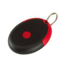 kulcstartó, microfibre (szemüvegtörlő) kendővel, piros/fekete \T-0407701\